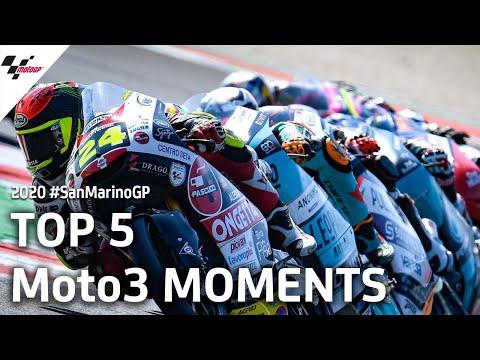 【決勝ハイライト】Moto3 サンマリノGP 気になるレースシーントップ5を集めたダイジェスト動画