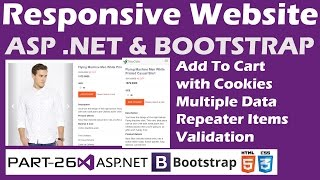Responsive Website-ASP.NET&Bootstrap-Part 26-Online Shopping Site-Add to Cart