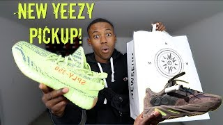 ADIDAS YEEZY 350 V2 SEMI-FROZEN YELLOW LIT PICK-UP VLOG! I ALMOST BOUGHT TWO PAIR OF YEEZY'S!
