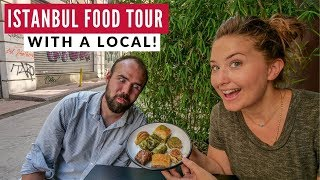 Istanbul Food Tour With A Local   Turkish Street Food Is Epic   Full Time Travel Vlog 19