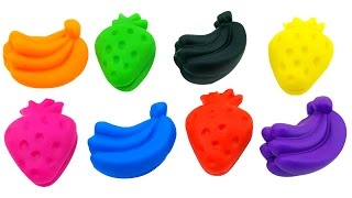 Learn Colors with Play Doh Banana Strawberry Animal Popsicle Molds Fun & Creative for Kids