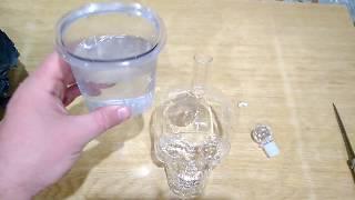 Распаковка бутылки череп из хрусталя 750мл (Aliexpress)