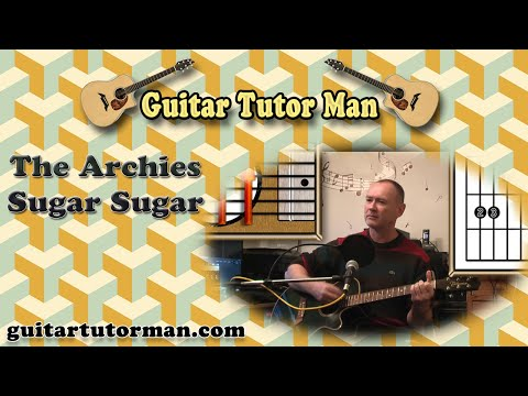 Sugar Sugar - The Archies - Acoustic Guitar Lesson (easy-ish) Mp3