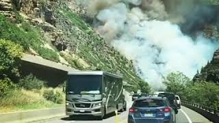 Grizzly Creek Fire shuts Interstate 70 in Colorado l ABC News