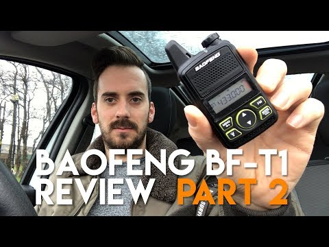 Baofeng T1 Review Part 2 – Long Range Test 72 Miles!