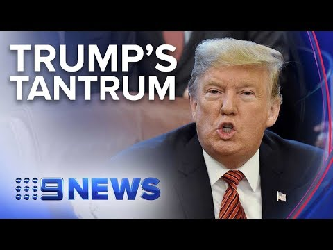 U.S. President Denies Storming Out Of Meeting With Democrats | Nine News Australia