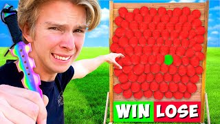 100 Mystery Balloon Wall of PRANKS! *DONT POP THE WRONG BALLOON*