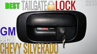 Chevy Silverado 1500 Sierra TAILGATE LOCK Pop & Lock Review How To Install Locking Rear Handle Latch