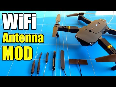 Eachine E58 Wifi Antenna Mod Install - Increase / Extend Wifi FPV Range And Fly Drone With Phone