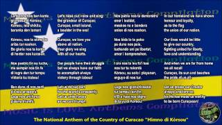 Curacao National Anthem with music, vocal and lyrics Papiamento w/English Translation