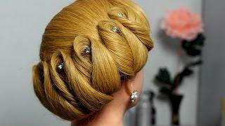 Hairstyle For Medium Hair. Wedding Updo