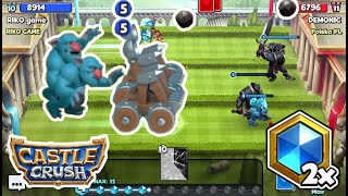 Castle Crush Catapult Strategy 👍 Double Mana Speed 🔥 GamePlay || Lvl 10