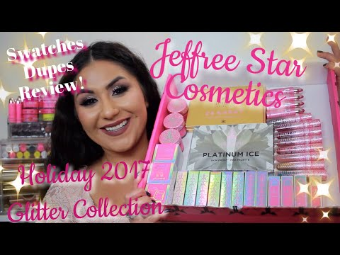 Jeffree Star Cosmetics| Holiday 2017 Glitter Collection Swatches, Comparisons, and Review!