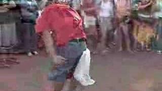 DOF dancing at the Midnight Sun Festival 2004