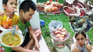 น้องบีม   กุ้งเผา ปลาหมึกย่าง น้ำจิ้มแซ่บ ทำอาหารอยู่บ้านตามคำขอของ FC