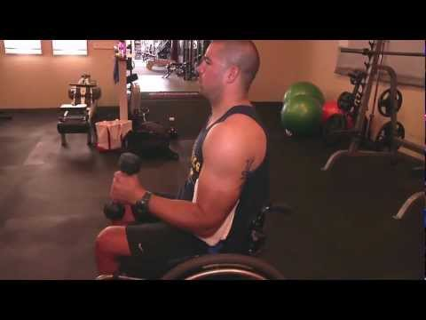Dumbbell Upright Shoulder External Rotation (with support)