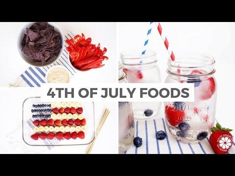 Video Easy & Healthy 4th Of July Recipe Ideas | Gluten-Free, Vegan | Healthy Grocery Girl