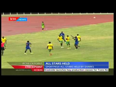 Sportpesa all-stars held by Sharks in a friendly match  as they prepare to play against Hull City