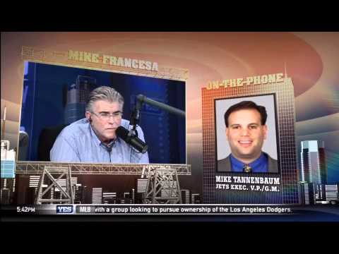 Mike Francesa interviews NY Jets GM Mike Tannenbaum Pt: 2