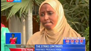 Kenya National Union of Nurses hold a meeting to find a solution to the ongoing strike
