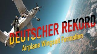 Deutscher Rekord – Airplane Wingsuit Formation – Daniel Ossio – Southside Base