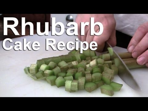 Video Easy Rhubarb Cake Recipe - GardenFork