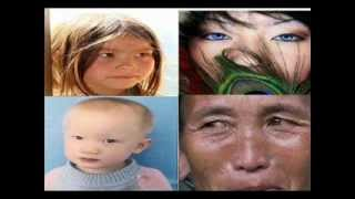 Hmong is related with Mongols, Turks, Kazakh, Central Asian? Blue green eyes, blonde  red hair
