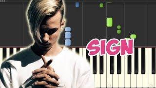 Sign-DEAMN (Piano Tutorial Synthesia)
