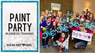 3 Big Things YOU need to know before Teaching Paint Parties! || Texas Art and Soul