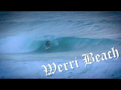 Fun waves and pumping swells at Werri Beach