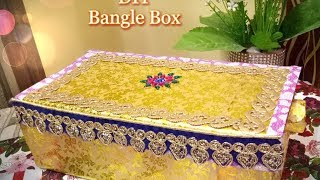 How To Make Bangle Box From Old Shoe Box Diy