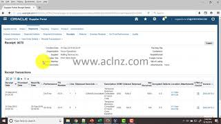 How to view PO Receipt details in Oracle iSupplier Portal?