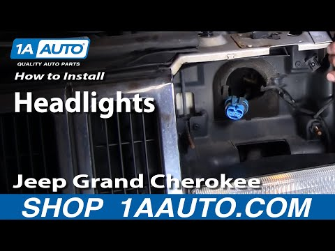 How to Replace Headlights 97-98 Jeep Grand Cherokee
