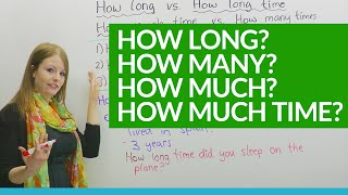 How to Ask Questions: HOW LONG, HOW MUCH... | Kholo.pk