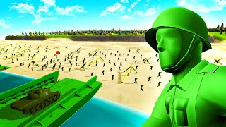 Green ARMY MEN D-DAY in RAVENFIELD?! - Incredible WW2 Toy Soldiers Battle!