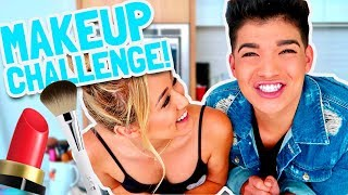 TRANSFORMING INTO MY GIRLFRIEND! (Make Up Challenge)