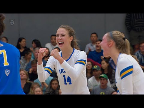 UCLA women's volleyball tops Oregon in four-set thriller