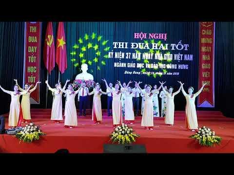 hát múa chào mừng Hội nghị thi đua hai tốt và kỷ niệm ngày nhà giáo Việt Nam 20/11/2019 PGD&ĐT Đông Hưng