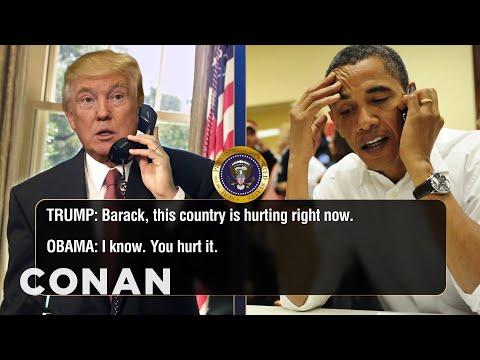 Uniklé telefonáty Obamy a Trumpa: Charlottesville a Twitter - CONAN