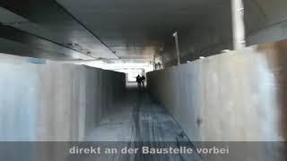 Mit's Rad über den Tunnel