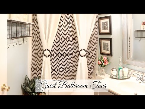♥ Glam Home ♥ Guest Bathroom Tour & Organization ♥ BUDGET FRIENDLY