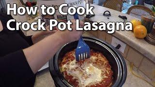 Crock Pot Lasagna - How to Make It - Home Recipe