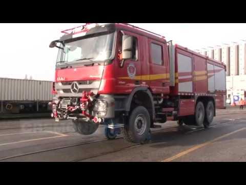 Collaudato a Cremona il camion antincendio bi-modale