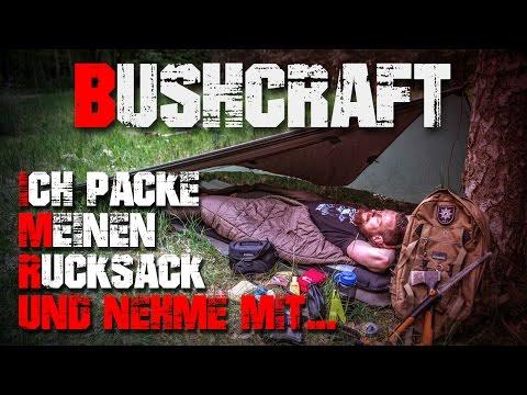 Mein Rucksack für eine Übernachtung -  Overnight Pack Kit  - Bushcraft Deutschland (german/deutsch)