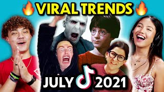 Teens React to Top Trends of The Month (July 2021)