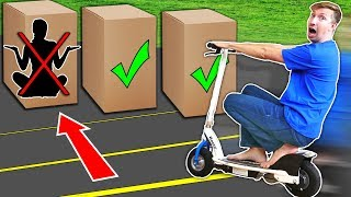 RUN OVER Hiding Person in the Box Challenge! - Video Youtube