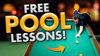FREE POOL LESSONS! - 2 MILLION VIEWS!-  8 ball 9 ball tips and tricks!