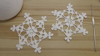 Мастер-класс вязание СНЕЖИНКИ  How To Crochet a Snowflake