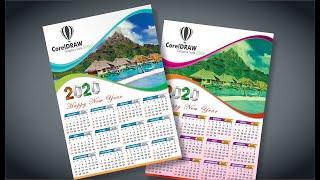 #117 || How To Calendar Design 2020 || Basic CorelDraw In Hindi