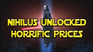 Star Wars: Galaxy Of Heroes - Darth Nihilus Unlocked Pack Prices lol
